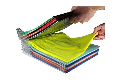 Organizador para camiseta y camisas plegable, ahorraespacio, para documentos, armario o maleta, 10 huecos