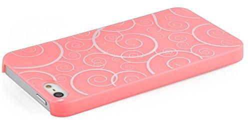 JAMMYLIZARD | Totenkopf TPU Back Cover Hülle für iPhone 4 und 4s, KNALLROSA Fluo Bonbon - Bubblegum