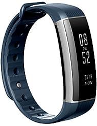 EIVOTOR Fitness Armband Fitness Tracker Smart Sport Watch Bluetooth 4.0 Smartband IP67 Wasserdicht Fitnessarmband unterstützt Pulsmesser, Schlafmonitor, Schrittzähler und Anrufer ID Benachrichtigung kompatibel mit Android Handy und IOS, iPhone für Sport, Fitness, Outdoor