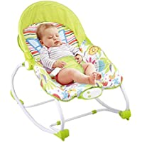 Btybess Plegable y portátil bebé recién nacido del bebé del eje de balancín, música de múltiples funciones de la vibración del bebé Comfort mecedora juguetes for bebés Silla, 0-36 Meses compacto plega
