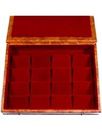 GiRiJA K16 Card Board and Rexine Jewellery Box (Red)