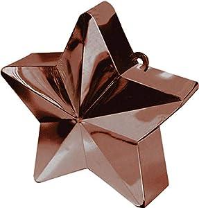 amscan 117800-17 - Peso para Globo (170 g), diseño de Estrella, Color marrón