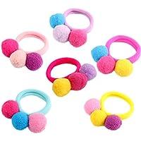 Dylandy Haargummis für Mädchen Elastische Haarbänder Haarband Bunte Haargummis für Kinder Pferdeschwanz Halter Haaraccessoires für Mädchen