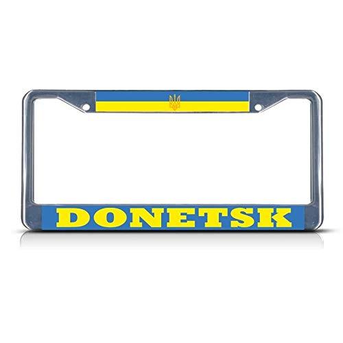 Donetsk Kennzeichenrahmen, Chrom, strapazierfähig, Metall, ideal für Herren und Damen, Auto-Garadge Dekor - Aluminium Beach Cruiser