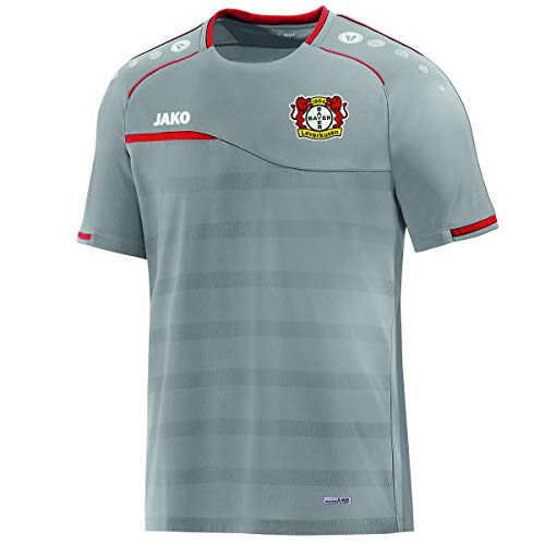 JAKO Kinder Prestige (ohne Sponsoren), (Saison 19/20) Bayer 04 Leverkusen T-Shirt, grau, 152