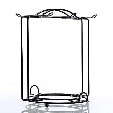XY&GKMetall Becherhalter Edelstahl Blume runden Glas Regal Rack Cup Regal, runden Rahmen, mit den besten Service