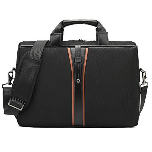 DTBG Herren Messenger Bag Umhängetasche wasserdicht Business Laptop Tasche 15,6 Zoll Aktentasche tragbare Arbeitstasche Notebook Schultertasche für Geschäftsleute Lehrer Studenten(Schwarz)