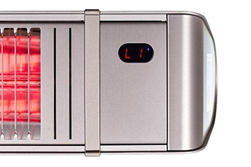 Infrarotstrahler HeizMeister LuXus Professionell silber, steuerbar über Smartphone oder Fernbedienung - 3