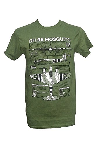 235d552e DH.98 Mosquito - British Aircraft / Military T Shirt with blueprint design  (Large