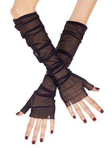 sh fingerlose Handschuhe schwarz (Schwarz Mesh Fingerlose Handschuhe)