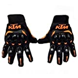 #6: KTM Full Finger Armoured Gloves for Motorcycle / Cycle Riding Size L