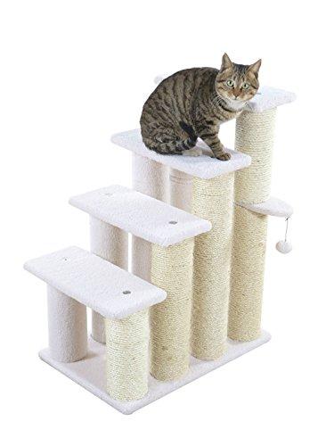 ARMARKAT Katzentreppe / Hundetreppe AC5001 mit dicken Sisalstämmen 77 cm hoch