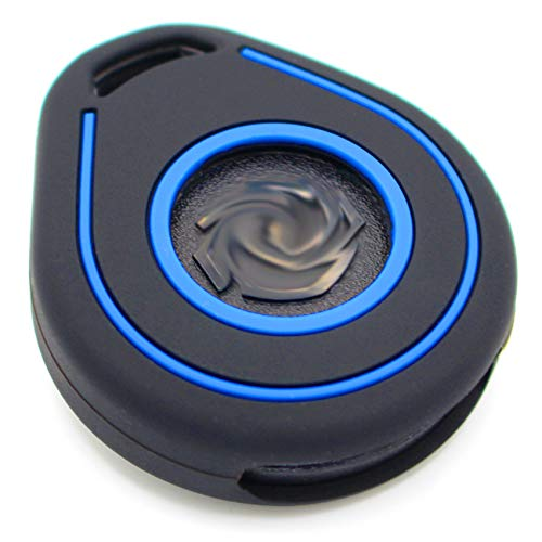 Silicone HAB Motorcycle Key Case, Keyless Go Black Blue