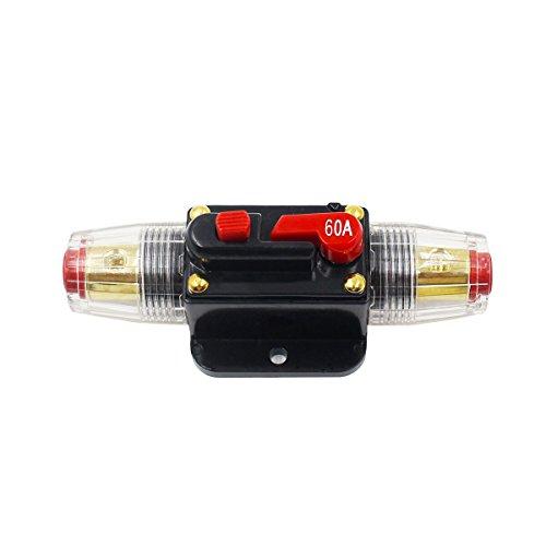 Preisvergleich Produktbild ulable 12V-24V Inline Auto Stromunterbrecher Manuelles Reset-Schalter Auto Audio Sicherungshalter