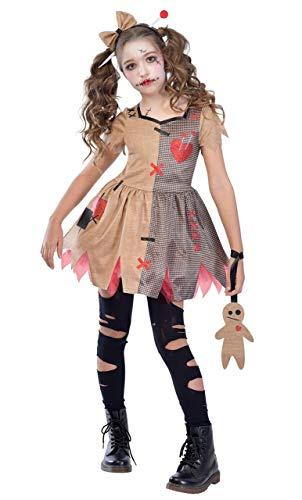 Eine Puppe Gruselige Kostüm - Fancy Me Mädchen Teen Gruselig Unheimlich Evil Voodoo-Puppe Halloween Karneval Kostüm Kleid Outfit 6-12 Jahre - 10-12 Years