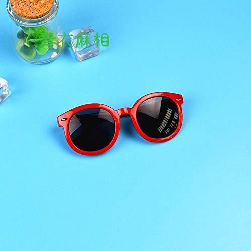 CYCY Kinder Brille Frühling und Sommer Jungen und Mädchen Sonnenbrille Sonnenschirm Spiegel Flut 2-7 Jahre alt Baby Sonnenbrille Blaue Brille, rote Brille