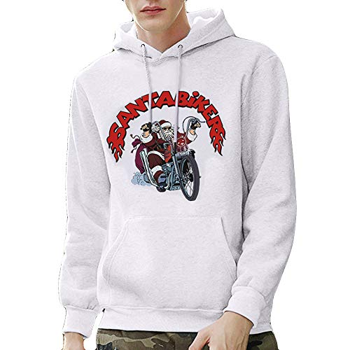 Price comparison product image Lazzgirl Mens Printed Christmas Pullover Long Sleeve Hooded Sweatshirt Tops Blouse(Large,White)