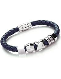 Tribal Steel T807_Blue_20 - Pulsera de acero inoxidable sin gema