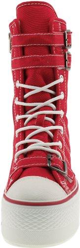 Maxstar  C50-3Belt, Chaussons montants femme Rouge - rouge