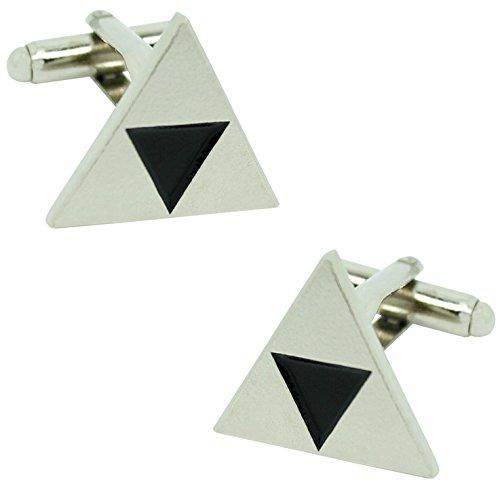 MasGemelos - Gemelos Triangulo Zelda Plateado Cufflinks