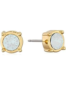 Guess Damen-Ohrstecker MY FEELINGS 4U Edelstahl teilvergoldet Kristall gold-UBE61039