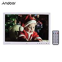 ألبوم الصور الرقمي بشاشة 17 بوصة LED لألبوم الصور الإلكتروني 1080P آلة الإعلان 1440 * 900 دقة عالية تسجيل MP3 ساعة تقويم وظائف MP4 التحكم باللمس زر UK Plug LMZHONORALLD6307W-UKSA