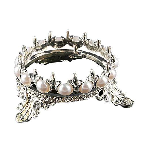 Fliyeong Crown Design Nail art Stifte Pinsel Ständer Rack Perlen Dekoration Salon Home DIY Maniküre Nail Carving Zeichnung Stifte Halter Langlebig und nützlich Perlen-rack