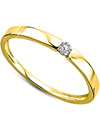 24fbb0fcce58 Orovi anillo de mujer solitario 0.05 Quilates diamantes en oro amarillo 9  kilates ley 375