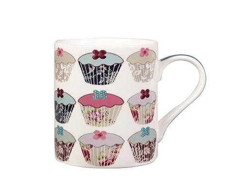 Queens Floral Cupcakes Mug, Fine Bone China