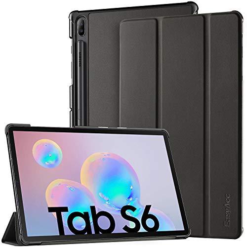 EasyAcc Hülle für Samsung Galaxy Tab S6 10.5 - Ultra Dünn mit Standfunktion Auto Sleep/Wake Up Funktion Slim PU Leder Hülle Hochwertiges Passt für Samsung Galaxy Tab S6 2019 T860 T865, Schwarz