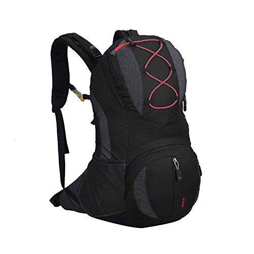 X2X 22 L Wasserdichter Rucksack für professionelles Bergsteigen Camping Wandern Bike Taschen 47 × 26 × 15 Schwarz