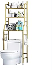 Toilet Storage Rack,3 Tier Over Commode Shelving,No Drilling,Easy to Assemble,High Capacity,Very Sturdy Space-