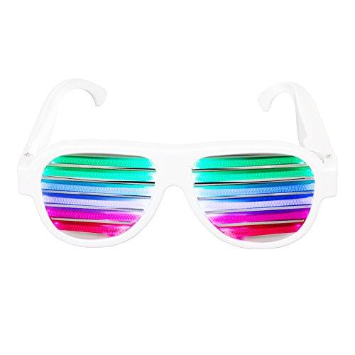 ille Musical aktivierte USB wiederaufladbare Blitz Beleuchtung Sonnenbrille Brille für Karneval, Halloween, Bar, Hochzeit, Junggesellinnenabschied, Weihnachtsgeschenk und Dekoration (Bar Themen-halloween-kostüme)
