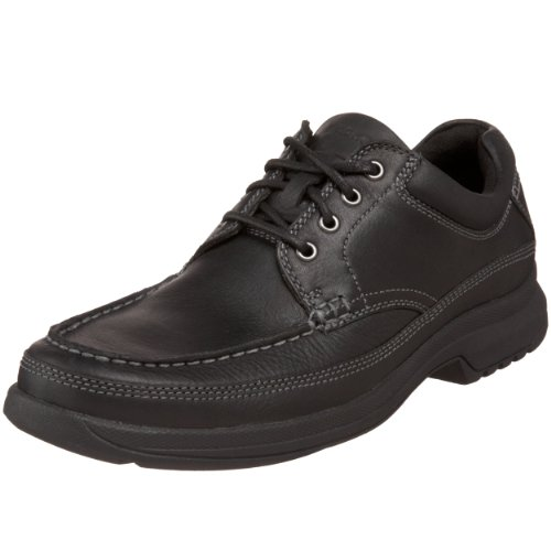 Rockport Men's Banni Moc-Toe Rugged Oxford,Black,7.5 W US Rugged Moc