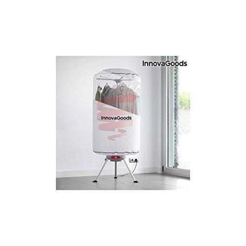 InnovaGoods Secadora de Ropa Portátil, Aluminio, Policarbonato, Blanco, 65x65x150 cm