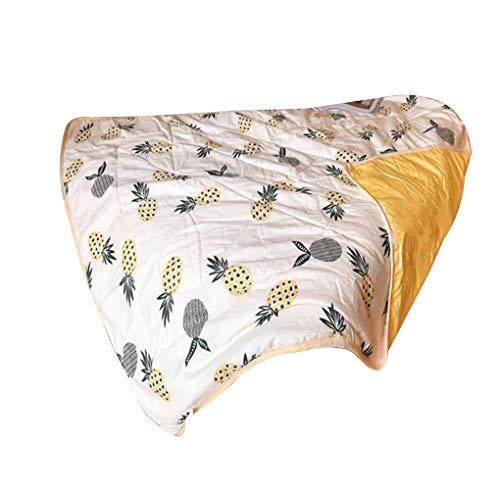 Ben-gi Kinder Quilt Cartoon Ananasfrucht Quilt Kind-Sommer-Klimaanlage Decke 110x150cm (Weiche Decken Für Teens)