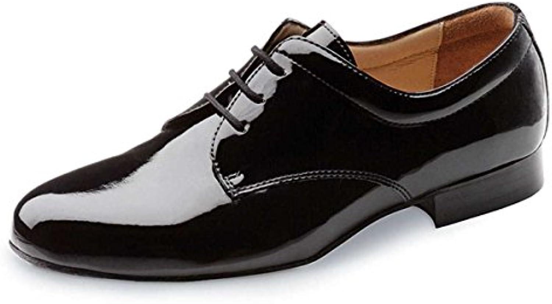 Werner Kern Hombres Zapatos de Baile 28012 - Charol Negro - 2 cm Ballroom  -