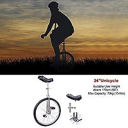 24 Pulgadas Antideslizantes Rueda Uniciclo Montaña Neumático Ciclismo Balance Ejercer
