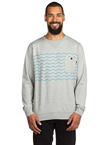 Herren Sweater Rip Curl Wavy Party Crew Sweater Cement Marle