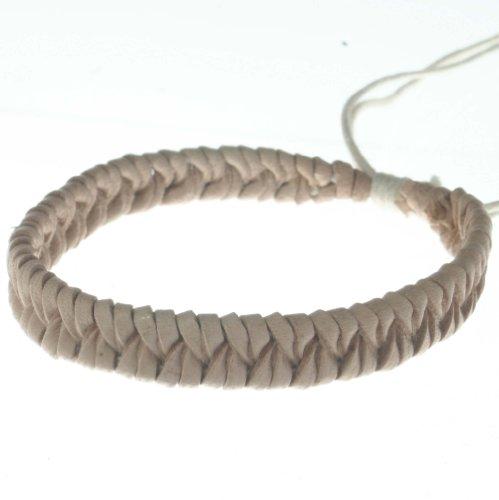 light-color-leather-classic-braiding-style-eco-fashion-unisex-adjustable-b2-bracelet-anklet