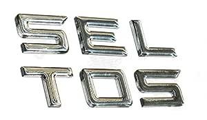CarMetics SELTOS 3D Letters 3D Stickers 3D Logo Bonnet 3D Accessories Door Chrome Accessories Emblem Badge for KIA SELTOS - (Chrome)