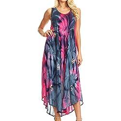 Sakkas 00831 -Vestido / Pareo Sakkas Starlight -Pink / Navy-One Size
