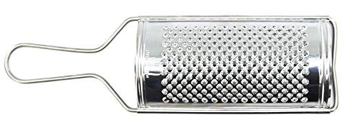 Grattugia manuale in acciaio inox grande per limone,aglio, formaggio, agrume e spezie lunghrzza 16cm