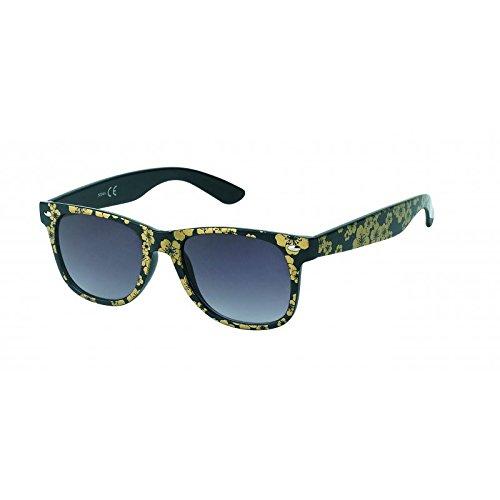 Chic-Net Lunettes de soleil unisexe plaine voyantes des lunettes de nerd sombre teinté UV 400 Wayfarer jaune JNqNjHF8