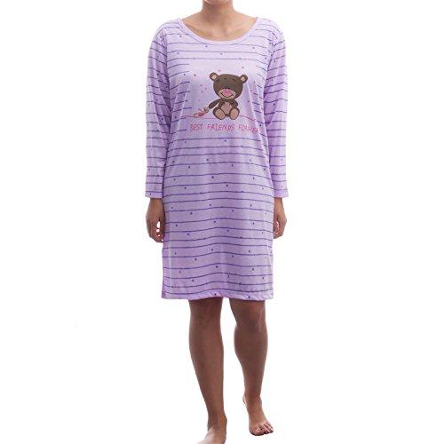 Romesa bigshirt ours manches longues hiver teenie big t-shirt Violet - Lilas