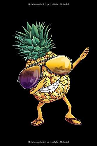 Notizbuch: Ananas Pineapple Dabbing A5 liniert Notebook I Hawaii Sommer Journal I Geschenk für den Urlaub Strand I Tanzende Frucht mit Sonnenbrille