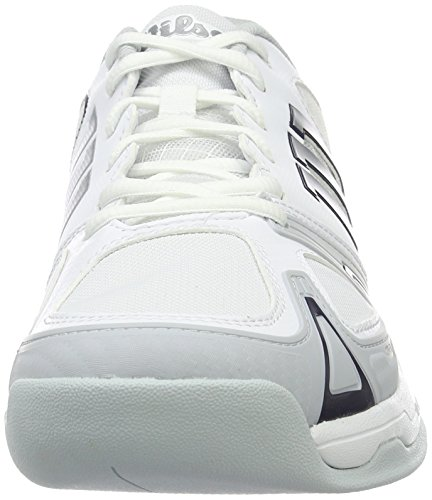 Wilson Rush Evo Carpet Wh/Pearl Blue/Ny, Chaussures de Tennis Homme Blanc Cassé (White / Pearl Blue / Navy)