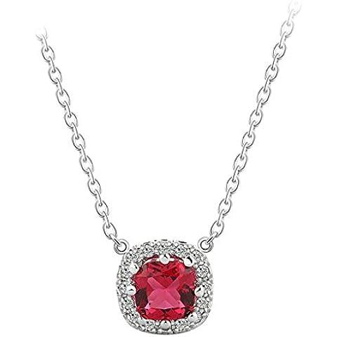 AienidD Cristales Regalos de Navidad-Collar Mujer Jovenl Amortiguador CZ Redonda Oval Enlace 9.5 x9.5mm Cuellos Dijes para las Mujeres