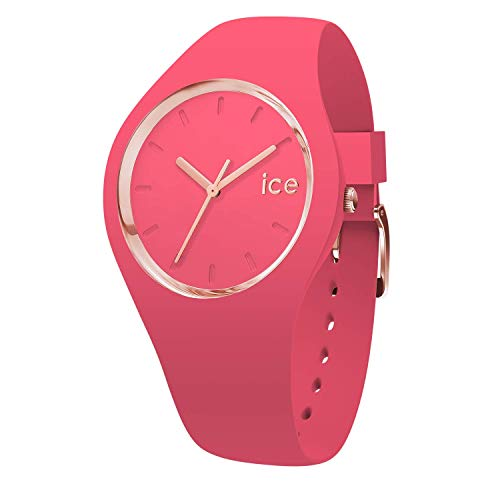 Ice-Watch - Ice Glam Colour Raspberry - Rosa Damenuhr mit Silikonarmband - 015335 (Medium)