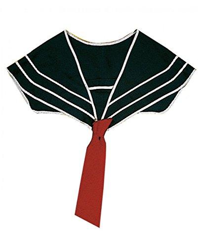 ailor Matrosen Kragen mit roter Krawatte für maritime Fasching (Sailor Kragen Kostüm)